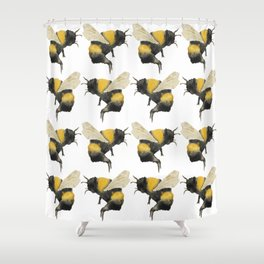 Dancing Bumblebees Shower Curtain