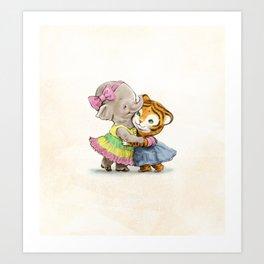 Best Friends Forever Art Print