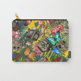 tropical in yellow Carry-All Pouch