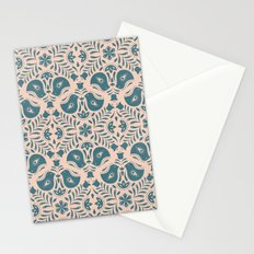 Scandinavian Folk Art (Blue) Stationery Cards