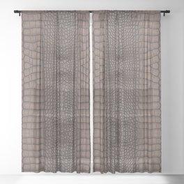 Copper Alligator Print Sheer Curtain