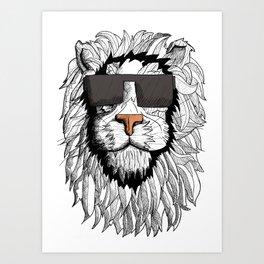 Lion Illustrative  Art Print