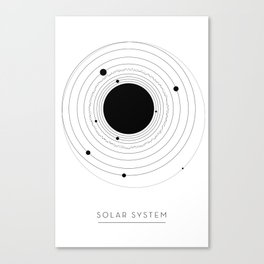 The Solar System (with Pluto) Canvas Print