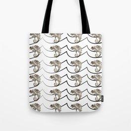 Color Deprived Cool Chameleon black and white Tote Bag