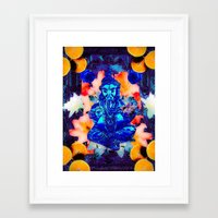 ganesh Framed Art Prints featuring ganesh by CandiCollage