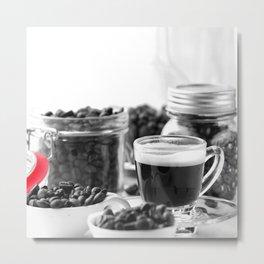 Coffee Colorkey Metal Print
