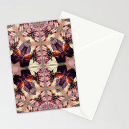 Morning Rose Kaleidoscope Photographic Pattern #2 Stationery Cards