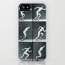Time Lapse Motion Study Man Running Monochrome iPhone Case