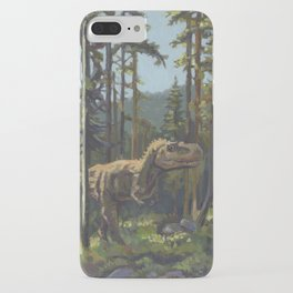 HUNT, T.rex dinosaur painting by Frank-Joseph iPhone Case