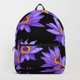 Lotus On Black Backpack