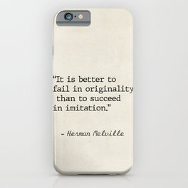 Herman Melville quote 1 iPhone Case