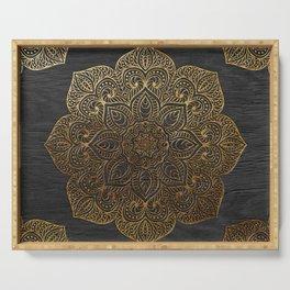 Wood Mandala - Gold Serving Tray