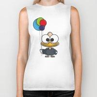 ballon Biker Tanks featuring Balloon - ballon de baudruche by binbinrobin