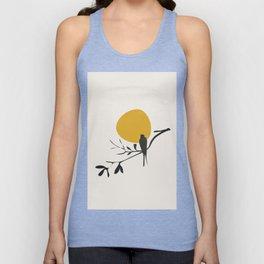 Bird and the Setting Sun Unisex Tank Top