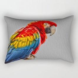Scarlet Macaw Rectangular Pillow