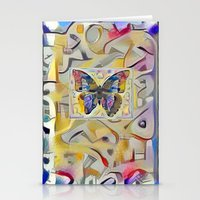 kandinsky Stationery Cards featuring Kandinsky Butterfly by Detailicious