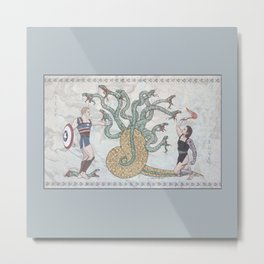 Steve, Bucky and the Hydra Metal Print