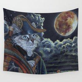 Sea Captain Cat Wall Tapestry