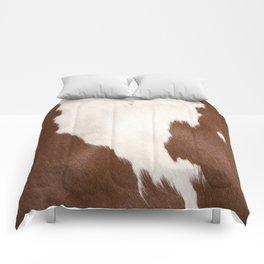 Brown Cowhide v4 Comforters