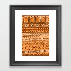 Yzor pattern 008 warm Framed Art Print