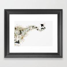 Origami Stream Framed Art Print