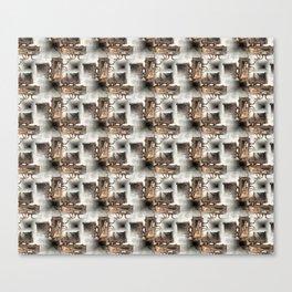 Battery Mishler Power Hoist lower section pattern Canvas Print