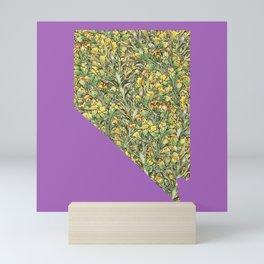 Nevada in Flowers Mini Art Print