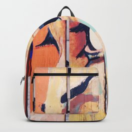 Figure crying girl on the fence Backpack