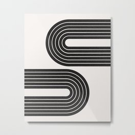 Abstract Neutral Tone Rainbow Arch Print Metal Print