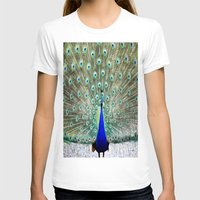 peacock T-shirts featuring Peacock by Whimsy Romance & Fun