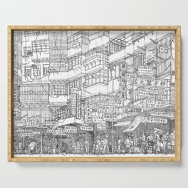 Hong Kong. Kowloon Walled City Serving Tray