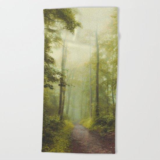 Long Forest Walk Beach Towel