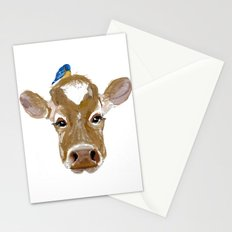 Bluebird Cow Stationery Cards