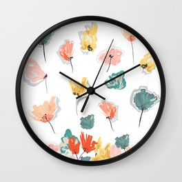 Wild Beauty Saffron Wall Clock