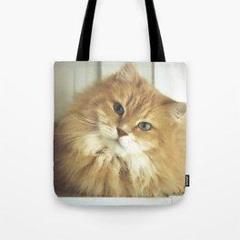 Siberian cat. Portrait of Mr. Cesare Tote Bag