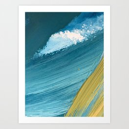 Paradise: a vibrant, minimal, abstract mixed media piece Art Print