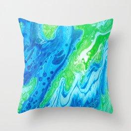 Blue & Green So Clean Throw Pillow