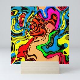 Colorful texture Mini Art Print
