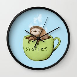 Sloffee Steam Wall Clock