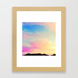 pink pearly sunset Framed Art Print