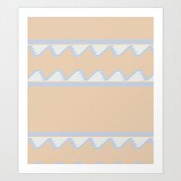 South of the Border Stripe No. 8 in Desert Peach Art Print