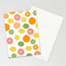 Orange Grapefruit Lemon Lime Citrus Pattern Stationery Cards