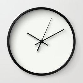 Chantilly Lace Solid Matte Silk Linen Colour Blocks Wall Clock