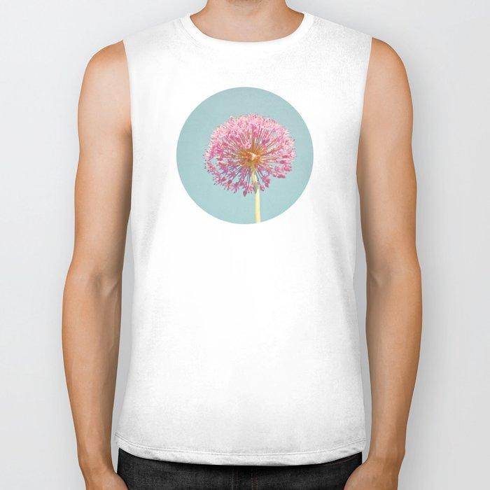 Pink Allium Biker Tank