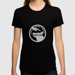 Animal Assisted Activities  - THERAPY DOG logo black white T-shirt