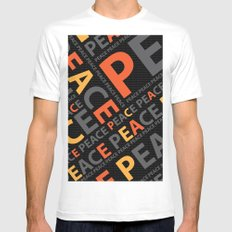 Peace....no more wars White MEDIUM Mens Fitted Tee