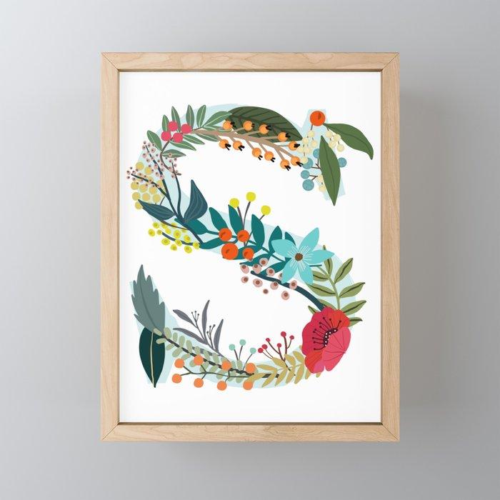 Monogram Letter S Framed Mini Art Print