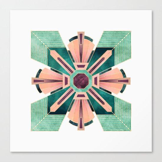 Art Deco Flower 1 Canvas Print