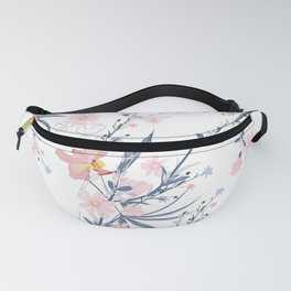 Beautiful White Floral Pattern Fanny Pack