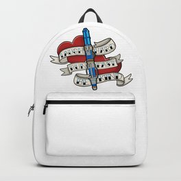 Laugh Hard, Run Fast, Be Kind Backpack
